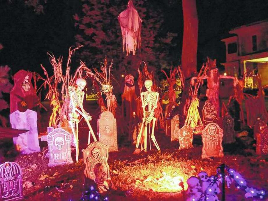 A Halloween display greets those passing along West State Street near Duncan Park in Jacksonville. Several elaborate displays have started popping up in the city as the days tick toward Halloween. Readers can share theirs by sending a photo with information to jjcnews@myjournalcourier.com.