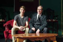 """Ben Grygier, left, composed music for Bay Area Harbour Playhouse's stage production of """"The Hounds of the Baskervilles."""" His father, Michael Grygier, has a role in the play."""