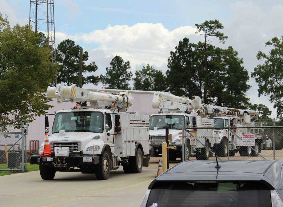 Rolling, rolling, rolling. Crews from Entergy Texas in Dayton roll out headed to Macon, Georgia to assist power crews in the area that will be affected by Hurricane Michael the next several days. The planned outage on Thursday has been canceled while they assist those affected by the hurricane. Photo: Submitted