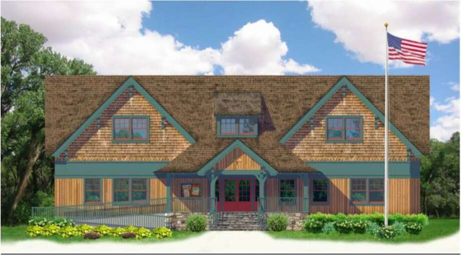 A rendering of the new Boy Scout Cabin to replace the current cabin on West Avenue. Photo: /contributed Photo