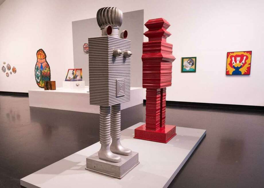 """H.C. Westermann - """" Swingin, Red King and Silver Queen"""" 1960-61 (wood, enamel)"""