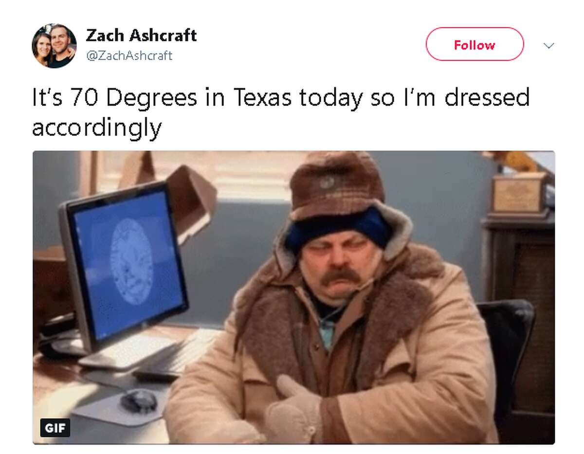 Some parts of North Texas and the Panhandle are experiencing temperatures as low as 30 and 40 degrees, while a cold front is expected to hit southeast Texas later this week. People across the state reacted to the cooler weather on social media.