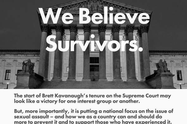 The home page of the URL brettkavanaugh.com, a web site created by the group Fix The Court