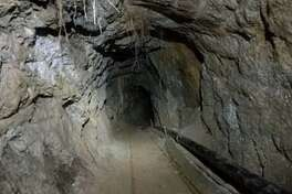 U.S. and Mexican authorities have discovered an incomplete, solar-powered tunnel connecting the two countries in a rugged, remote area east of San Diego.