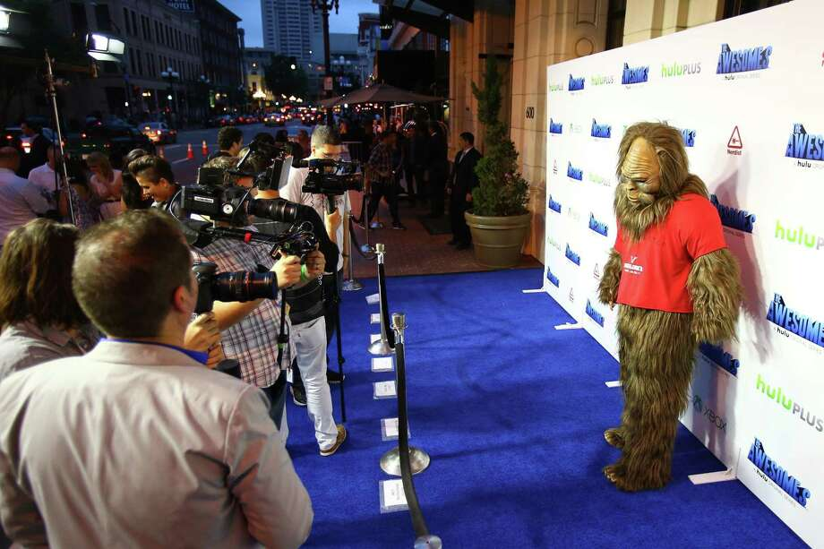 """Bigfoot"" arrives at ""The Awesomes"" VIP After-Party sponsored by Hulu and Xbox in San Diego. Photo: Joe Scarnici / Getty Images For Hulu / Contributed Photo / 2013 Getty Images"