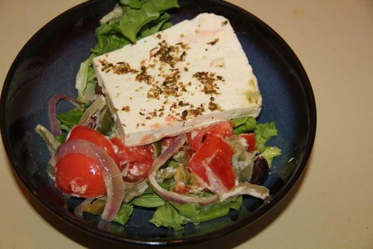 Greek salad at Dimitris Diner in Ridgefield