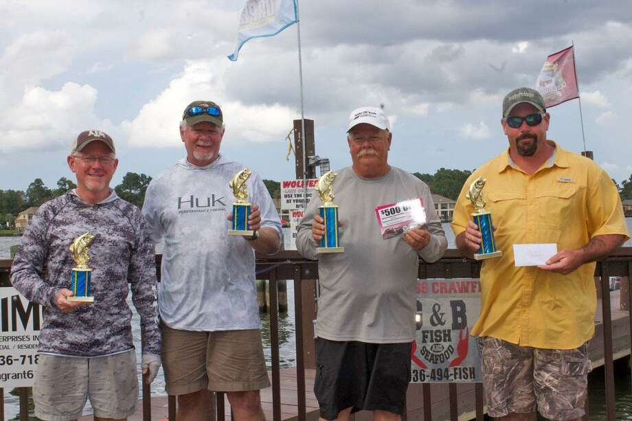 David Perciful, Wesley Ialacci, Harlan Blancet, and Garrett Pierce were the top winners in the CONROEBASS Mid-Day Madness Championship. Photo: Conroe Bass
