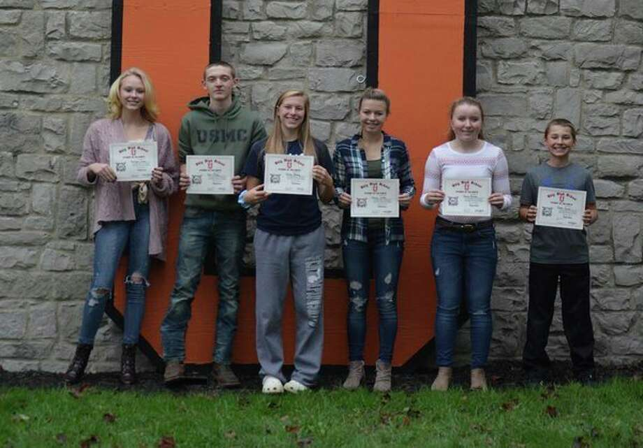 Ubly Community School recently announced its Students of the Month for September. They are (from left): Katelynn Garner, 12th grade; Colin Friday, 11th grade; Shelby Messing, 10th grade; Katelyn Grifka, ninth grade; Jeanna Bischer, eighth grade; and Jaxson Susalla, seventh grade. (Submitted Photo)