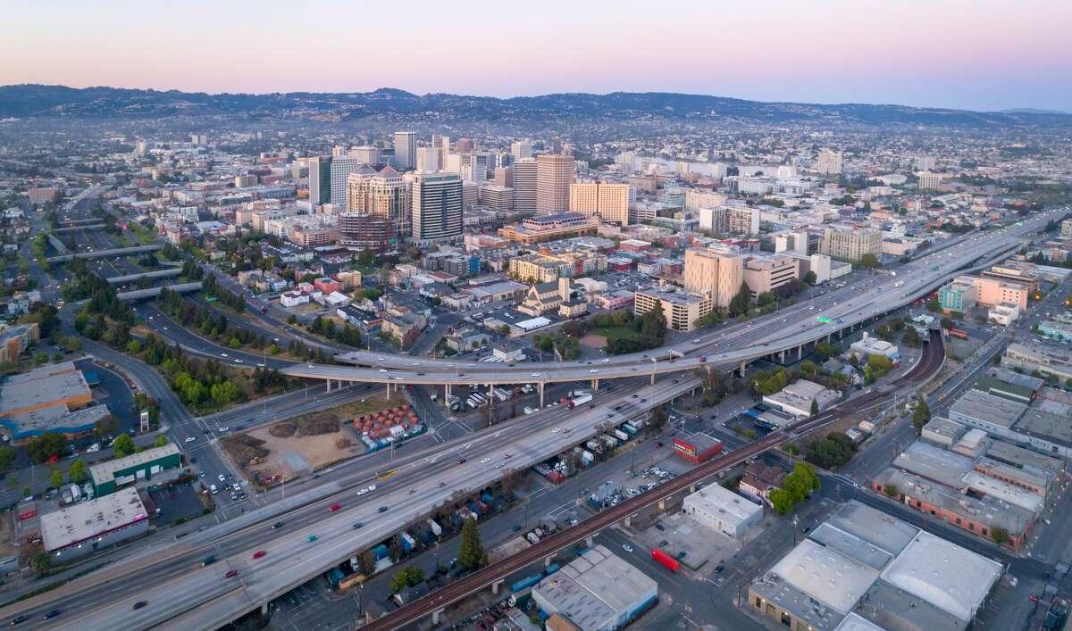 25. Oakland, Calif. Cost of business rank: 186 Job growth rank: 40 Education rank: 17 Population: 2,812,500