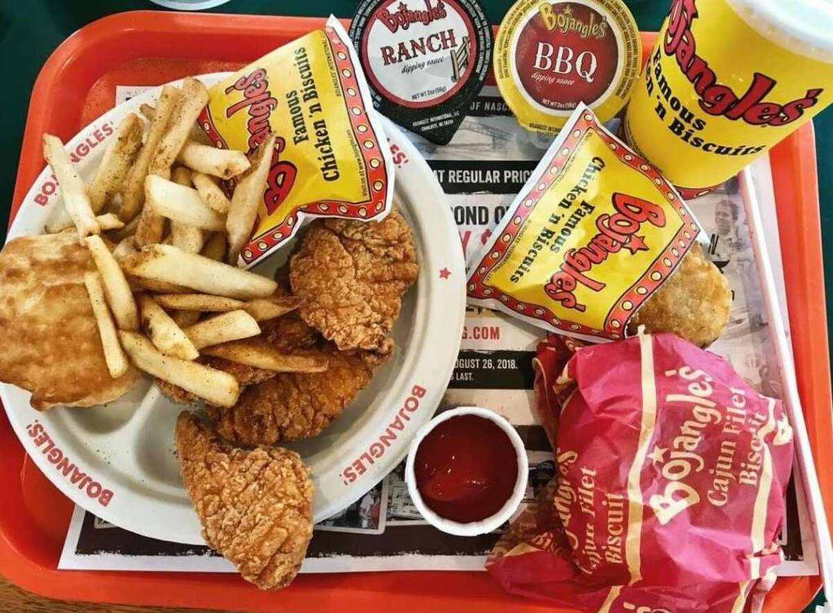 A standard haul from the North Carolina-based southeastern fried chicken chain Bojangles' Famous Chicken 'n Biscuits.