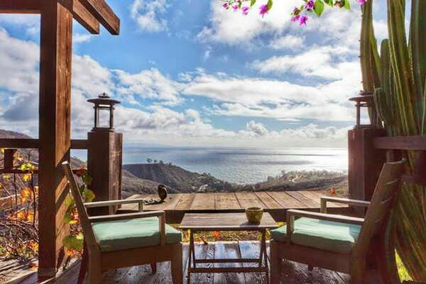 "Ocean-view Malibu Hideaway $255 per night ""A delightful experience often compared with the French Riviera, incredible ocean views. Conveniently located only 23 miles from Los Angeles International Airport (LAX), 15 minutes from Santa Monica, seconds from gorgeous beaches and mountain hikes."""