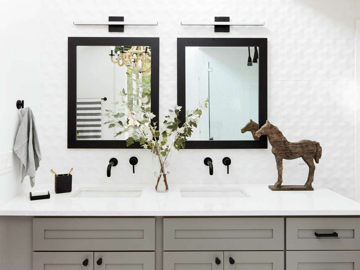 Matte black is an up-and-coming color in bathroom faucets and hardware. It provides both transitional and contemporary baths a dramatic punch, especially when used as accent pieces against, say white or off-white walls and vanities.