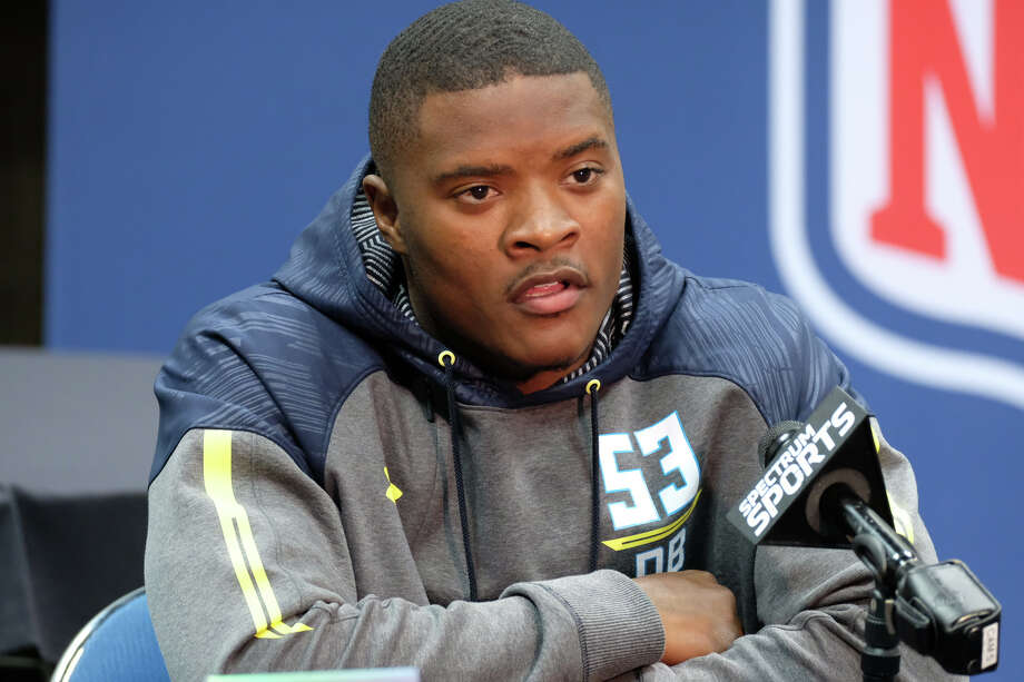 INDIANAPOLIS, IN - MARCH 05: Cincinnati defensive back Mike Tyson answers questions from members of the media during the NFL Scouting Combine on March 5, 2017 at Lucas Oil Stadium in Indianapolis, IN. (Photo by Robin Alam/Icon Sportswire via Getty Images) Photo: Icon Sportswire/Icon Sportswire Via Getty Images / ©Icon Sportswire (A Division of XML Team Solutions) All Rights Reserved contact: info@iconsportswire.com http://iconsportswire.c