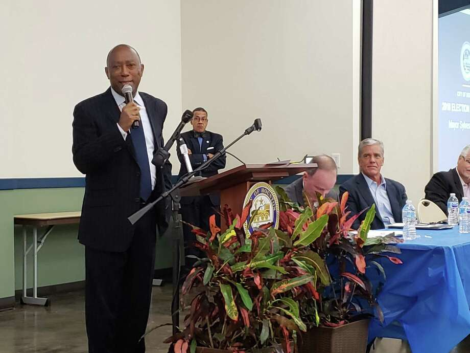 Houston Mayor Sylvester Turner advised Kingwood residents that a vote in favor of Proposition A would provide funding specifically allocated for infrastructure repairs and flood mitigation projects. Photo: Kaila Contreras