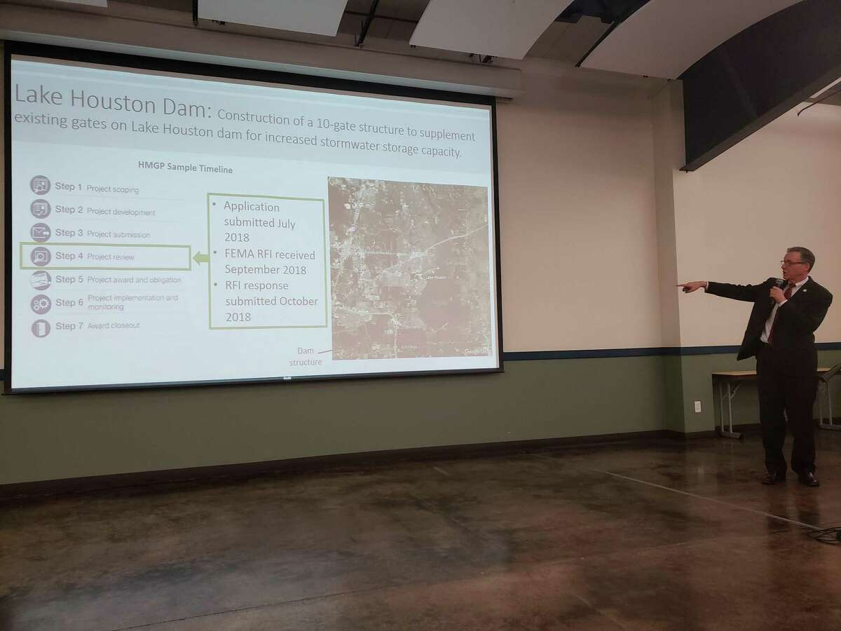 Chief Resiliency Officer Stephen Costello informed Kingwood residents that they have already submitted a project application to FEMA to build a 10-foot gate on the Lake Houston dam to support existing gates.