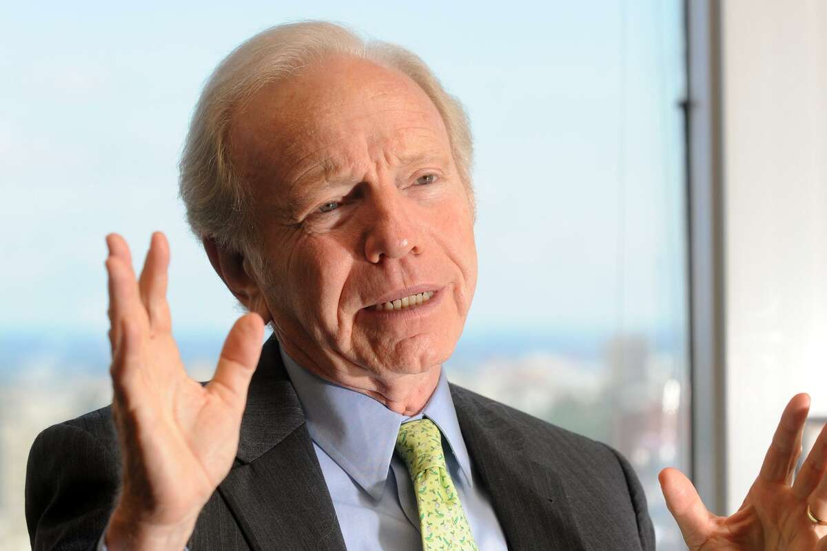 Former United State Senator Joseph Lieberman speaks during an interview in his midtown Manhattan office, in New York City, July 30th, 2013.