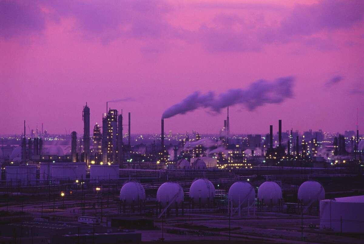 Exxon Oil Drilling Plant (Photo by  Greg Smith/CORBIS/Corbis via Getty Images)