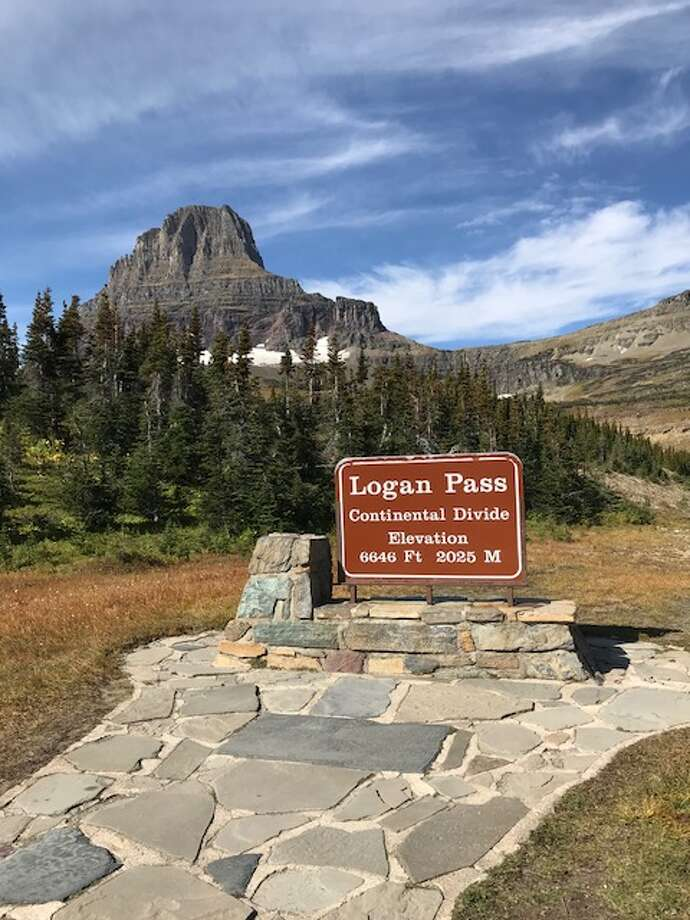 Clifton Park couple Carol and Bob O'Connell took this photo out west on Sept. 15. It's in Glacier National Park on the Going-to-the-Sun Road at the top of the Continental Divide at Logan Pass.