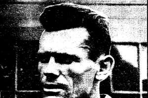 Original 1938 caption :Above, killer John W. Deering, and left, an electrocardiograph record of his heartbeats as he was executed by a firing squad.