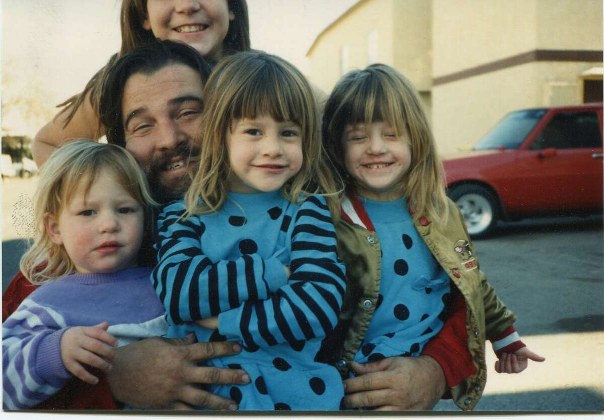 Fred Stillmans with his daughters