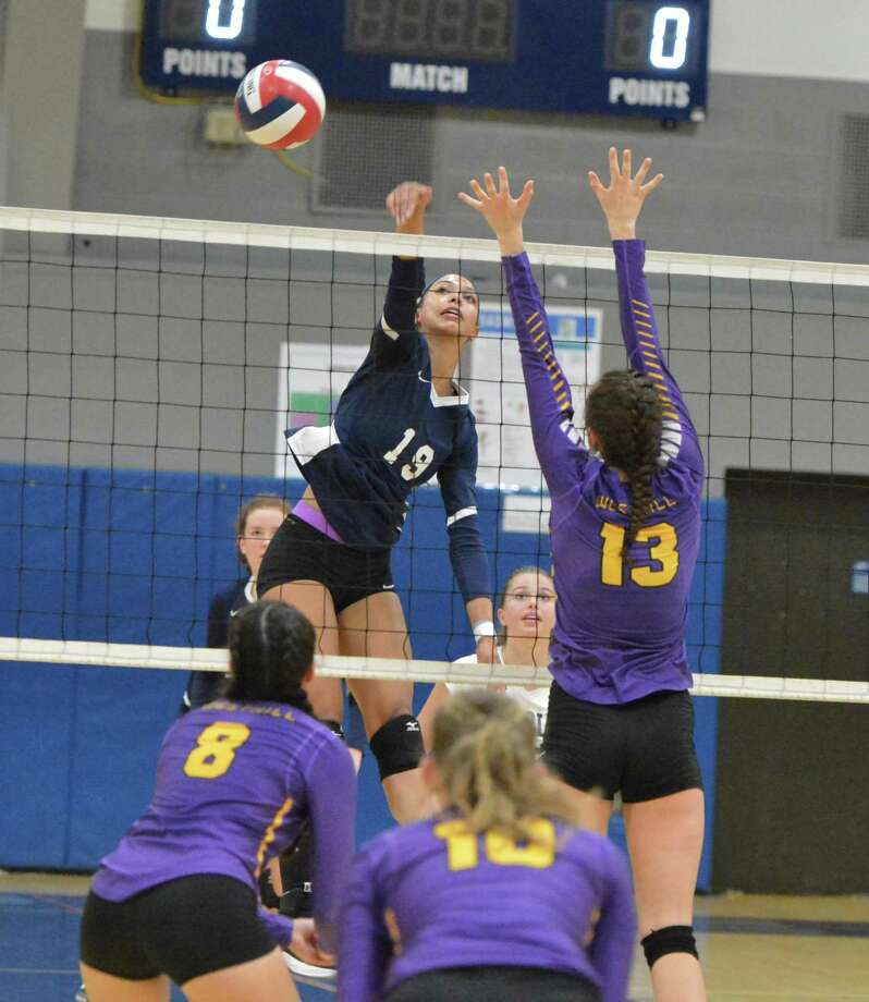Staples' Isabella Jagenberg scores against Westhill in Wednesday's match in Westport. Photo: Alex Von Kleydorff / Hearst Connecticut Media / Norwalk Hour