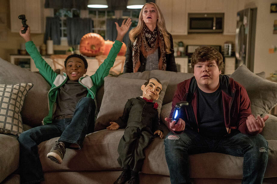 "Madison Iseman, Jeremy Ray Taylor, and Caleel Harris star in ""Goosebumps 2: Haunted Halloween."" Photo: Photo: Daniel McFadden/Sony Pictures Entertainment / © 2018 CTMG, Inc. All Rights Reserved. **ALL IMAGES ARE PROPERTY OF SONY PICTURES ENTERTAINMENT INC. FOR PROMOTIONAL USE ONLY."