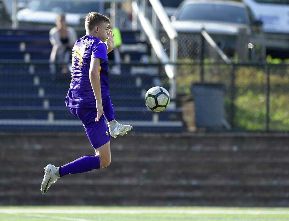 Westhill and Brien McMahon played to a 1-1 tie in an FCIAC boys soccer game on Oct. 10, 2018 in Stamford, Connecticut. Photo: Matthew Brown / Hearst Connecticut Media / Stamford Advocate
