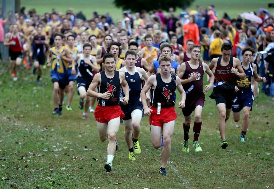 Ubly Cross Country Invitational — Boys Race Photo: Paul P. Adams/Huron Daily Tribune