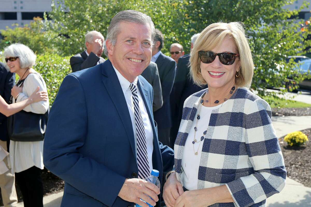 Were you Seen at the Blessing and Dedication of the Swyer Family Garden at St. Peter's Hospital in Albany on Wednesday, Oct. 10th, 2018?