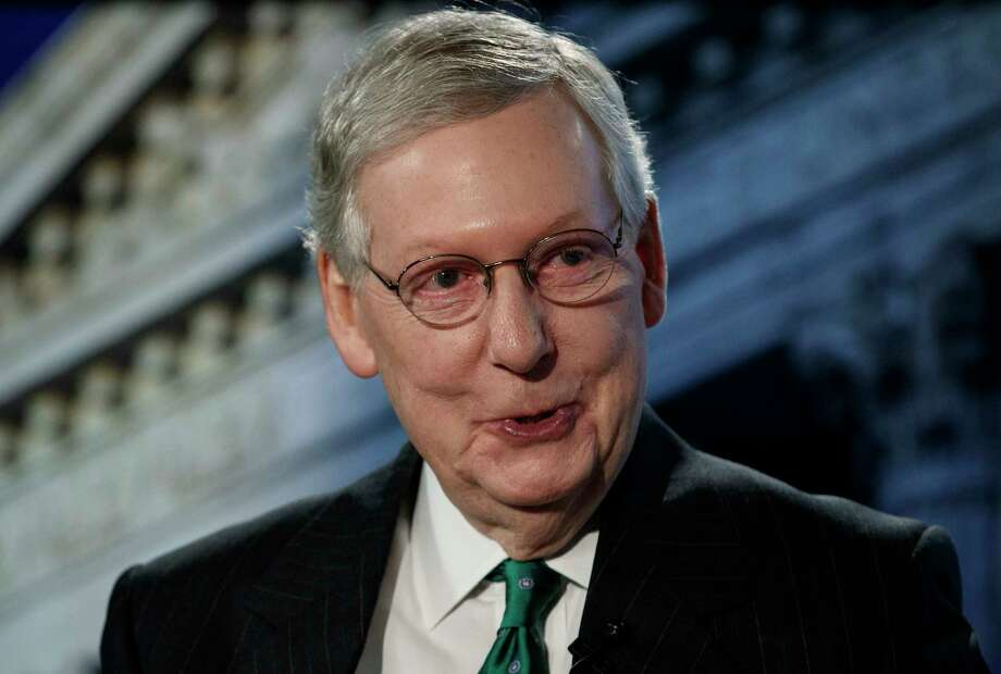Senate Majority Leader Mitch McConnell of Ky., speaks during an interview at The Associated Press in Washington, Wednesday, Oct. 10, 2018. (AP Photo/Carolyn Kaster) Photo: Carolyn Kaster / Copyright 2018 The Associated Press. All rights reserved