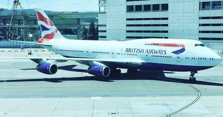 British Airways 747-400 at SFO