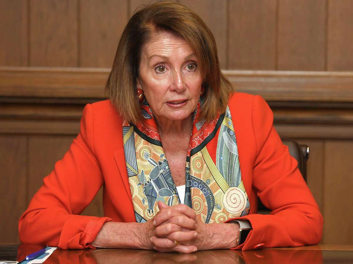 """Minority Leader Nancy Pelosi says demanding President Trumps's tax returns """"is one of the first things we'd do"""" if Democrats take control of the House next month. She says a congres- sional committee would then decide if there is information in them that needs to be investigated."""