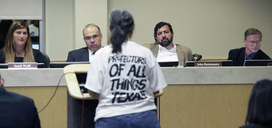 City officials listen to testimony about the Alamo Plaza plan in October. But, a reader says, money speaks louder than residents on this issue. Photo: Tom Reel / Staff Photographer / 2017 SAN ANTONIO EXPRESS-NEWS