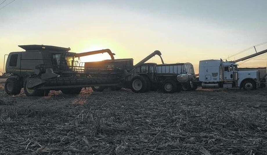 Work doesn't slow down on the Wallace farms in Macoupin County, even though the sun calls it a day.