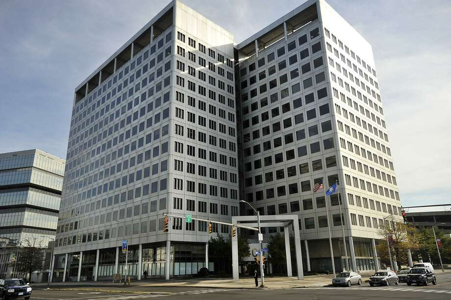 The 400 Atlantic St. building in Stamford, Conn., where Harman International Industries has its main office as a subsidiary of Samsung. Photo: Jason Rearick / Jason Rearick / Stamford Advocate