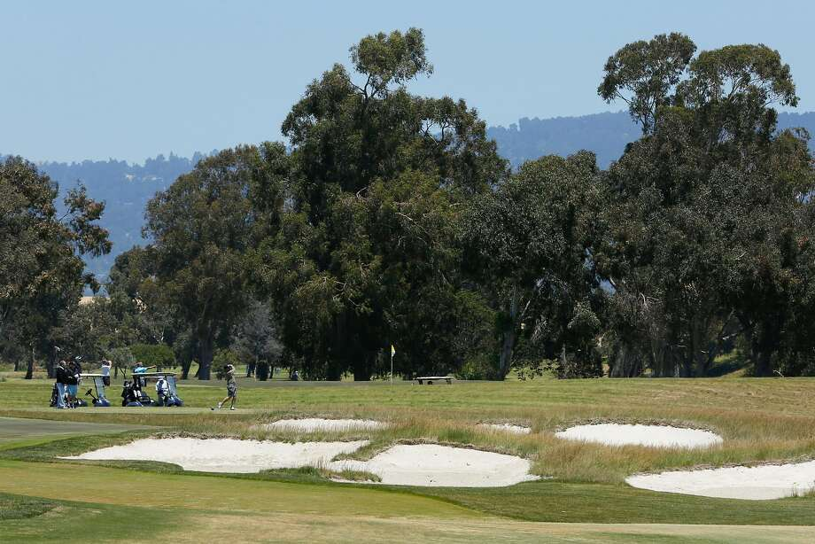 Golfers at the new Corica Park South Course, Wednesday, June 20, 2018, in Alameda. Photo: Santiago Mejia / The Chronicle