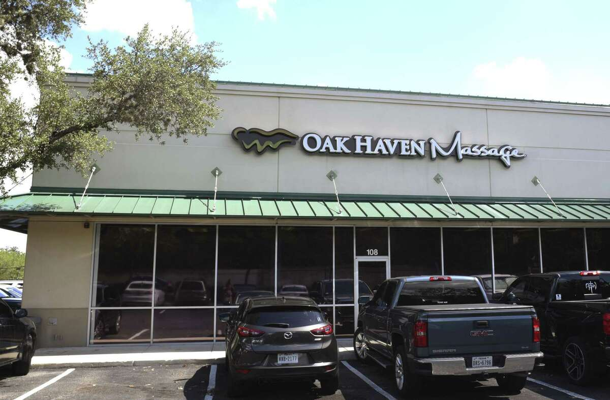 Oak Haven Massage is located at the intersection of Huebner and Churchill Estates. Sept. 5, 2018.