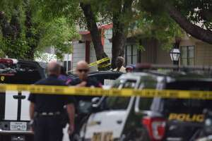 San Antonio police respond to a shooting in the 4000 block of Coral Sunrise on Thursday, Oct. 11, 2018.