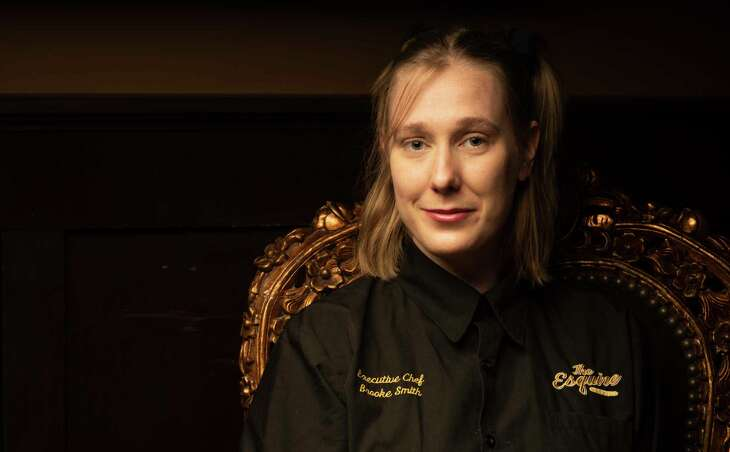 Chef Brooke Smith has left The Esquire Tavern after eight years as its chef.