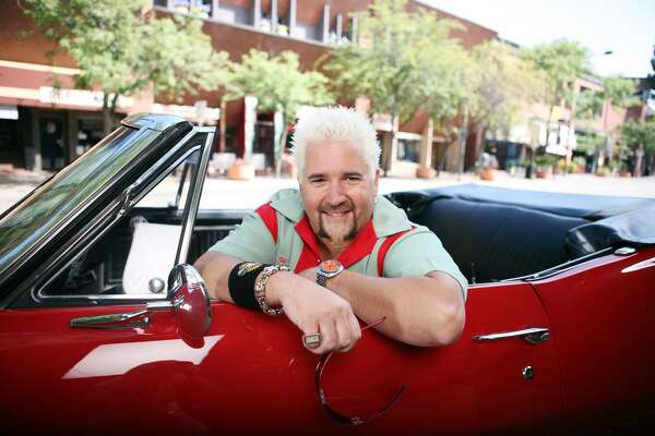 Guy Fieri, host of the Food Network TV show, Diners-Drive-Ins and Dives, has profiled about more than 400 eateries across the country since the series debuted in 2007. Fieri arrives at each restaurant in a bright red 1967 Camaro convertible.