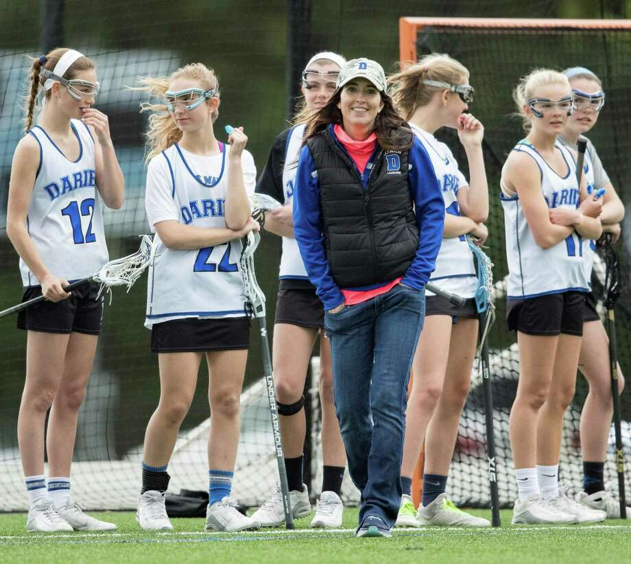 Ciara Thurlow coaches her lacrosse team. Photo: /contributed Photo