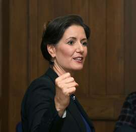 Oakland Mayor Libby Schaaf comes to the San Francisco Chronicle to speak with the editorial board on Monday, Oct. 1, 2018, in San Francisco, Calif.