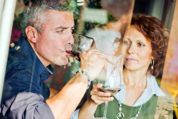 Mature woman is not happy that her husband drinks too much