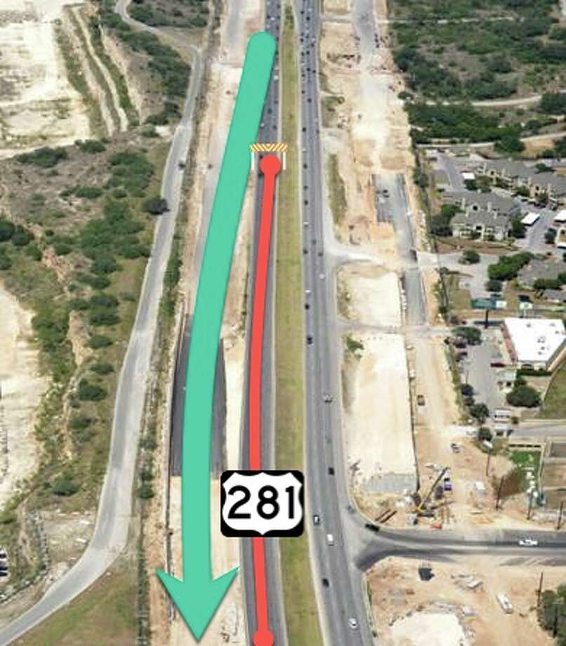 The southbound main lanes of Highway 281 from Encino Rio to Sonterra Boulevard will be shut down during an expansion project. Photo: Courtesy TxDOT