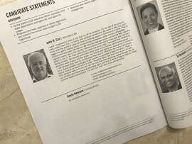 Why is Gavin Newsom's section in the California voter guide blank? It all comes down to campaign spending.