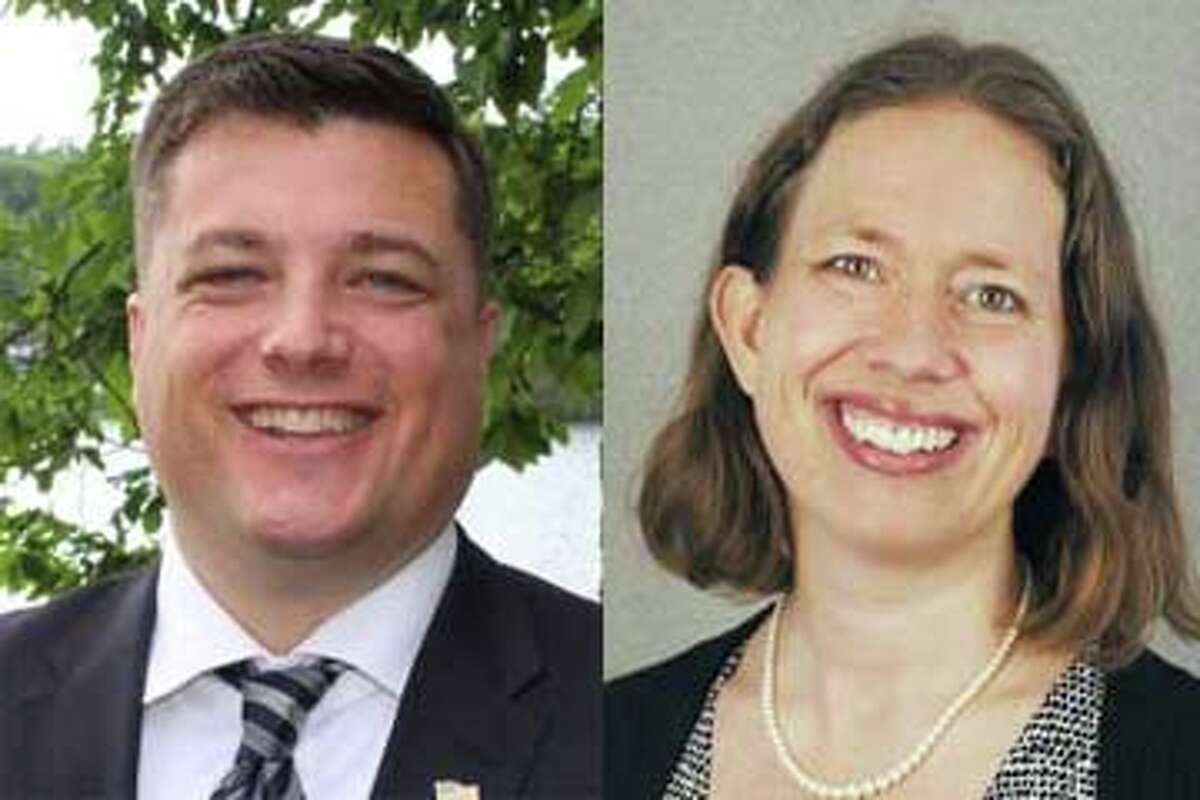 Assembly candidates Jake Ashby and Tistrya Houghtling.