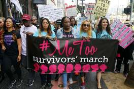 Participants march against sexual assault and harassment at the #MeToo March in the Hollywood section of Los Angeles on Nov. 12, 2017. The #MeToo movement has had big gains and losses over the past year - but it won't get further without including the experiences of all women.� (AP Photo/Damian Dovarganes, File)