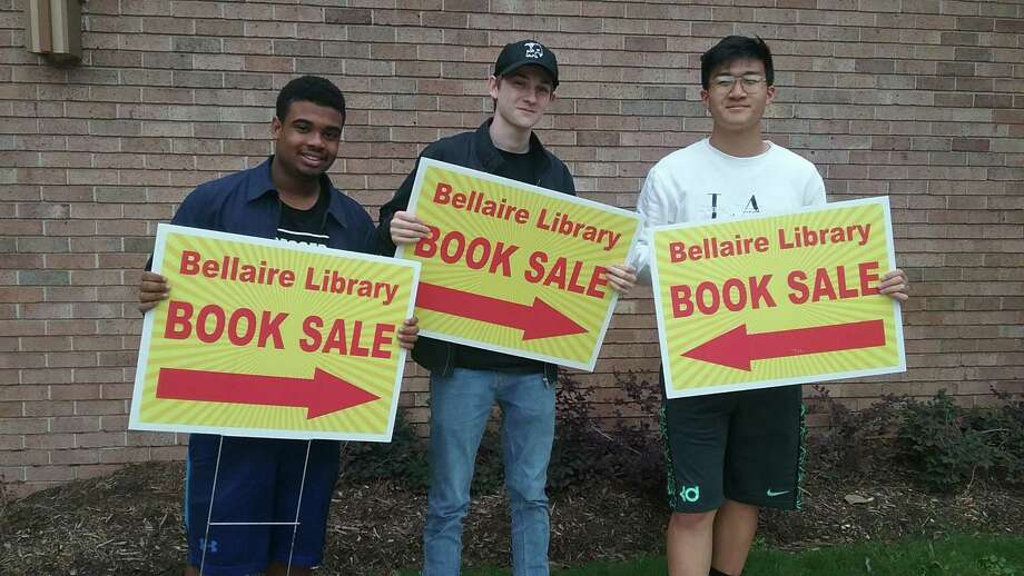 Students of the Youth Council on Service will be among the many volunteer groups lending a hand with FOTBL board members to make the Bellaire Library Book Sale a success this Saturday, October 13th from 9am to 2pm. Photo: Bellaire Library