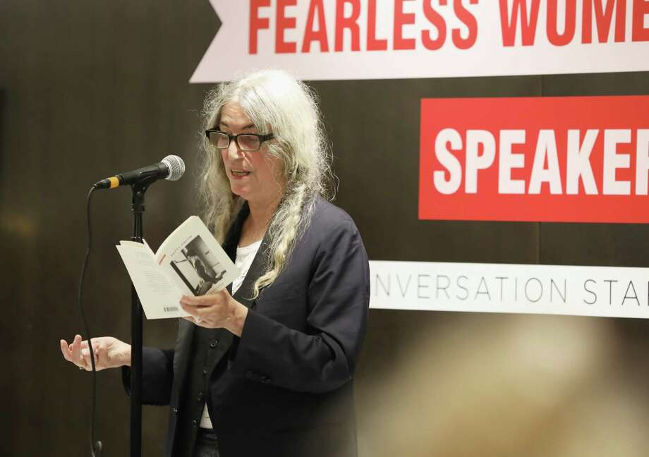 Patti Smith speaks onstage during the Saks Fearless Women Speaker Series With Patti Smith on Sept. 26, 2018 at Saks Fifth Avenue in New York City.  (Photo by Cindy Ord/Getty Images for Saks Fifth Avenue) Photo: Cindy Ord / 2018 Getty Images