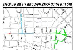 "An ""unusually high"" number of special events in downtown San Antonio this Saturday will require several roads to be closed."